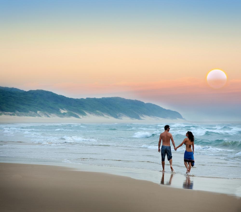 couple trip surf famille