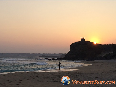 Taïwan nanwan surf sunset