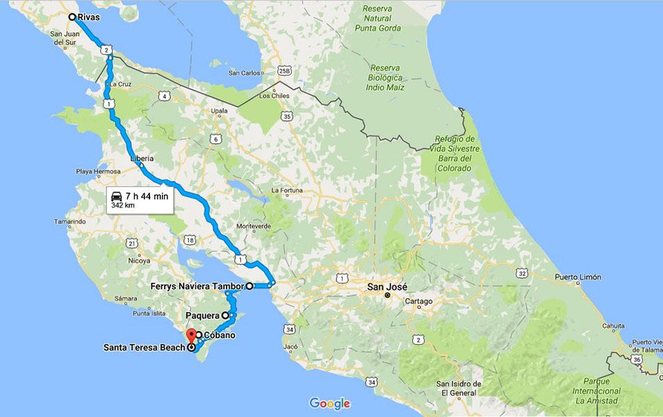 map costa