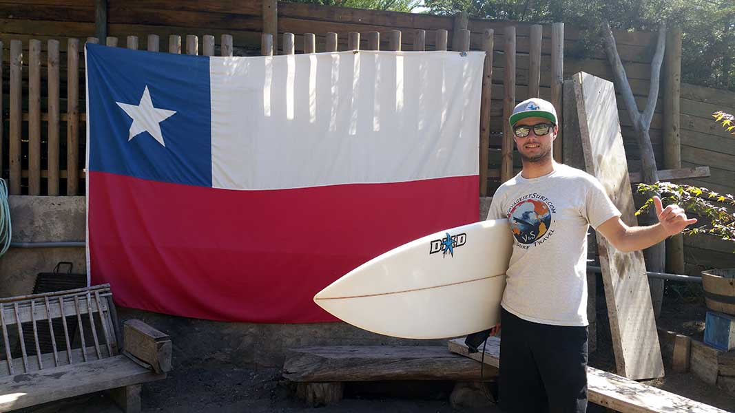 Chili Chile flag surf