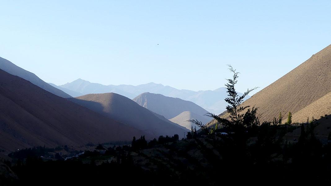 Chili Vallée d'Elqui montagne
