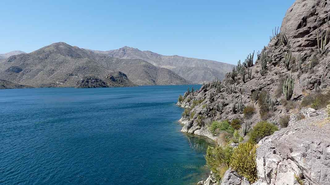Chili Vallée d'Elqui barrage de Puclaro